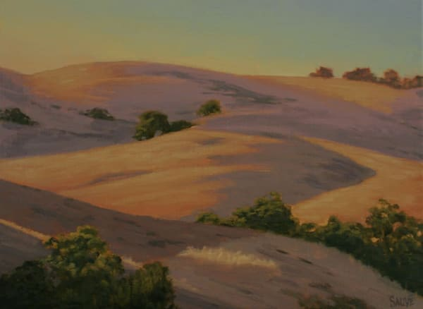 Golden Hills of California landscape painting