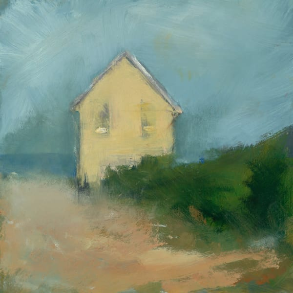 Cape Cod - Limited Edition Art by Anne Packard - Yellow House