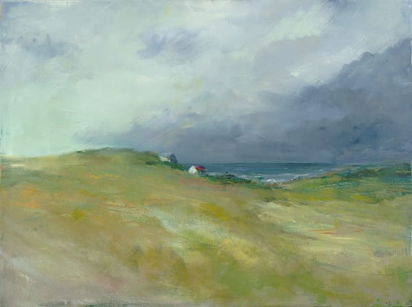 Giclée on canvas by Anne Packard - Encroaching Storm - Cape Cod