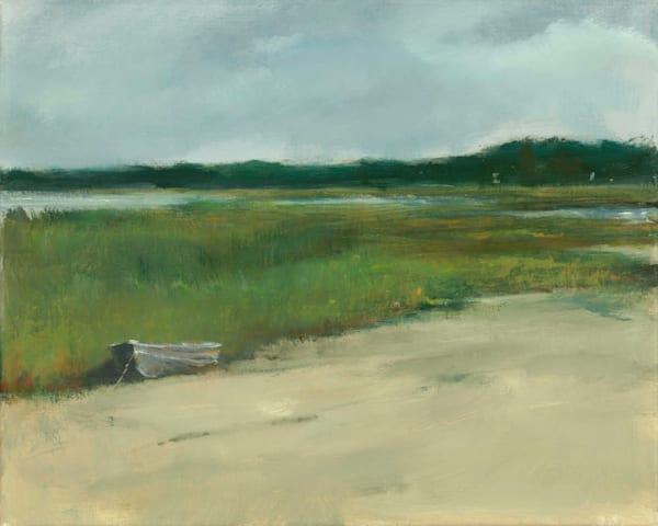 Giclée on canvas by Anne Packard - Marsh Dory - Cape Cod