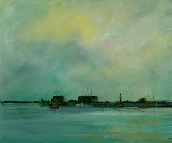 Province Town - Art Gallery by Anne Packard - Pier At Dusk - Cape Cod