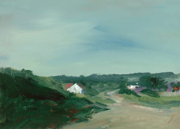 Giclée on canvas by Anne Packard - Pond Road - Cape Cod