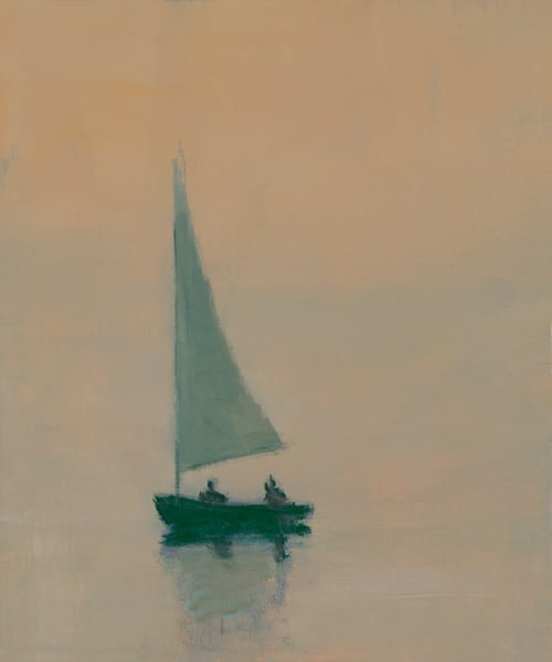"Sail At Dusk 12"" X 10"" Art 