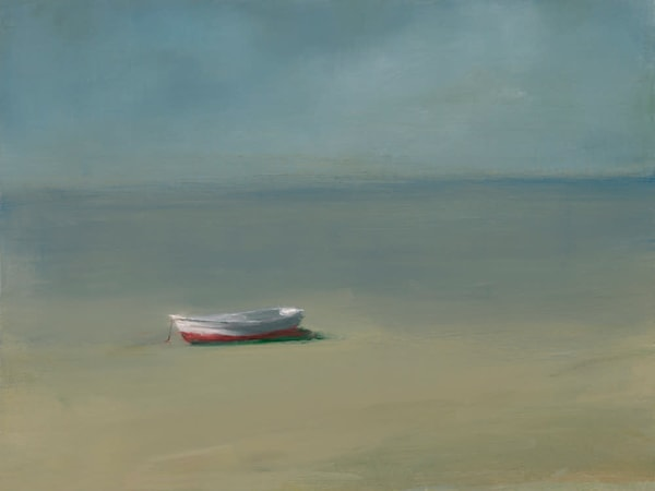 Province Town - Art Gallery by Anne Packard - White Rowboat - Cape Cod