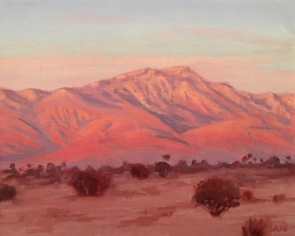 Mt. San Jacinto painting, Desert lanscape