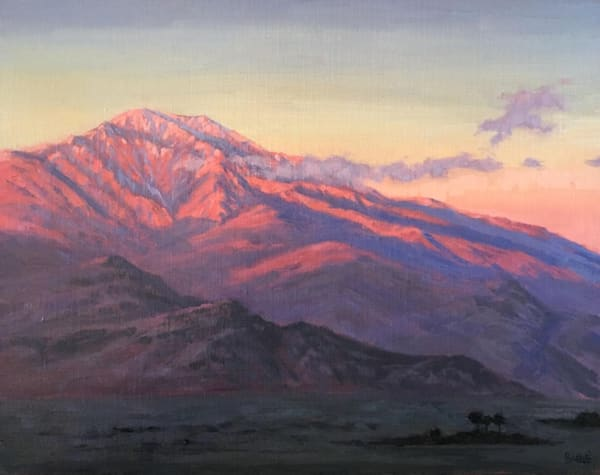 Mt. San Jacinto oil painting