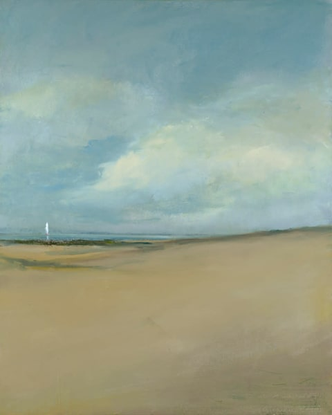Giclée on canvas by Anne Packard - Watching From Shore - Cape Co