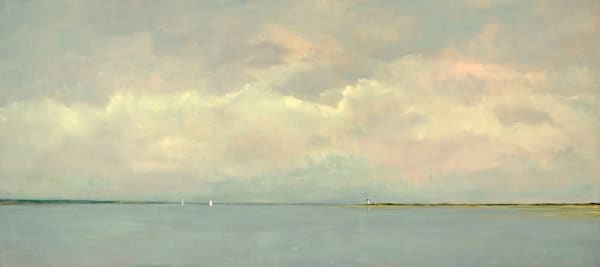 Giclée on canvas by Anne Packard - View From My Home - Cape Cod
