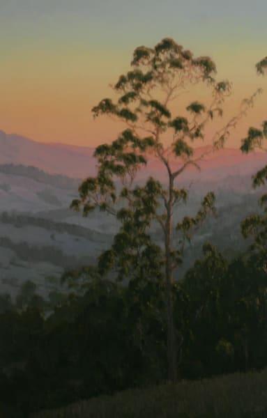 Northern California landscape eucalyptus oil painting