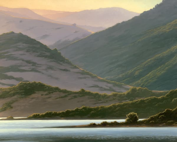 Lake And Hills At Dawn Art | Terry Sauve Fine Art