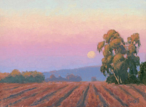 Vineyard Moonrise In Autumn Art | Terry Sauve Fine Art