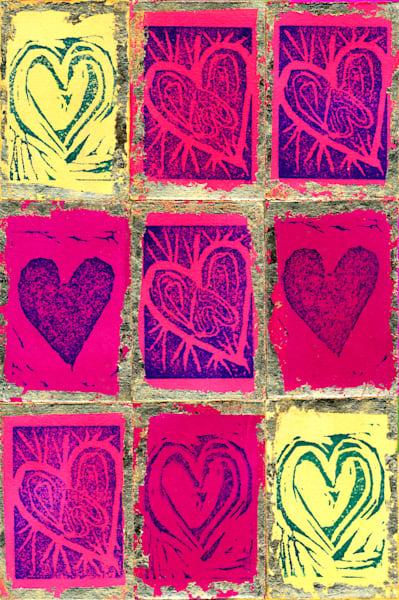 Nine Hearts Art | Pam White Art