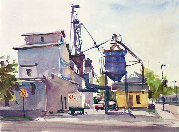 New Holstein Feed Mill print by Bill Doyle.