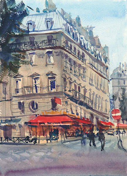 Paris Street 2016 fine art print by Bill Doyle.