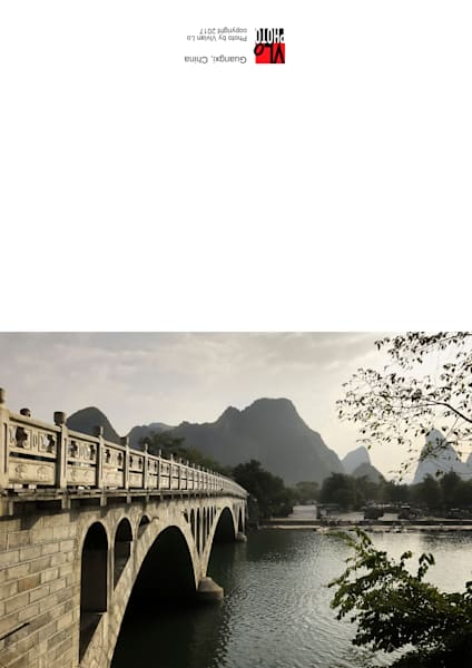 Guangxi, China - blank note card