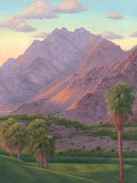 Sunlit Mountains Over The Green Art | Terry Sauve Fine Art