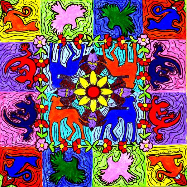 Animal Patterns 1, Art Print, Fine Art and Paintings for Sale by Teena Stewart of Serendipitini Studio