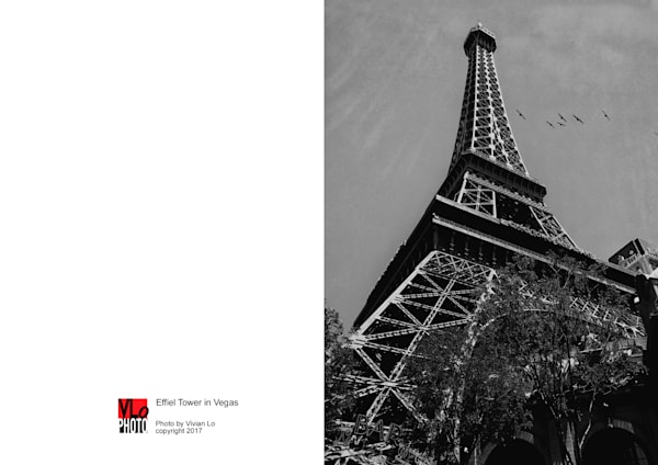 Effiel Tower in Vegas - blank note card