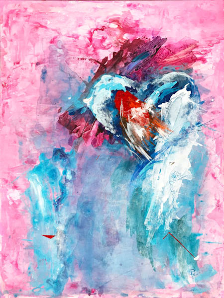 Frozen Heart Painting on Canvas by Artist Deepa Koshaley