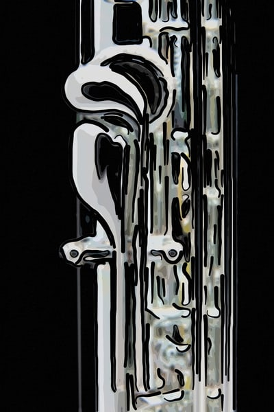 Metal Wall Art Flute Painting 8001.327