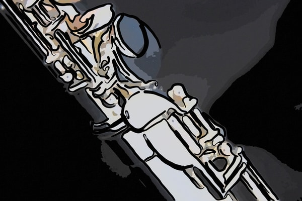 Flute Painting Large Wall Art 8001.336