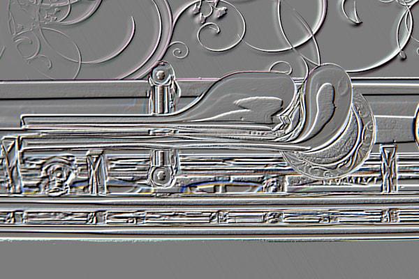Vintage Embossed Flute Art 8001.404