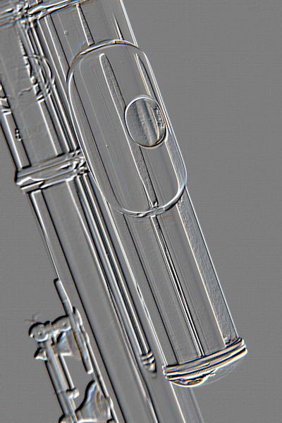 Alto Flute Mouthpipe Music Art Embossed 8001.401