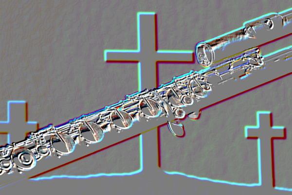 Embossed Flute and Crosses Art 8001.416
