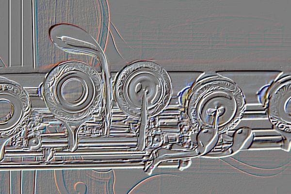 Embossed Flute and Violin Art 8001.415