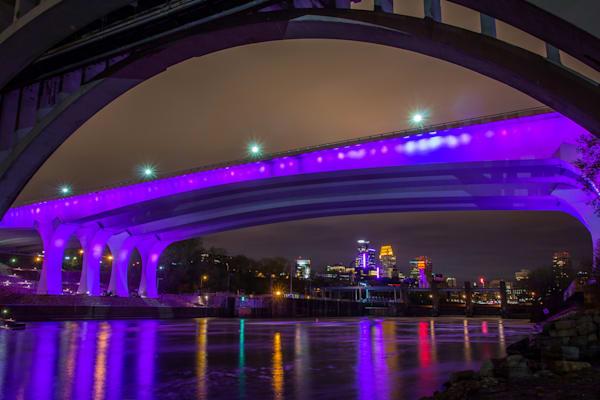 Under the Purple Bridge - Minneapolis Art | William Drew