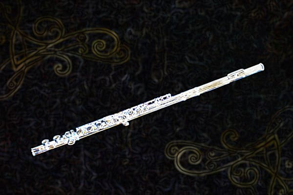Music Art Flute Dark Drawing 8001.509