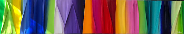 """15"""" x 80"""" Vibrant Waves of Color"""