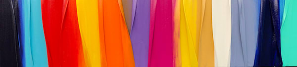 """12"""" x 48"""" Vibrant Waves of Color"""