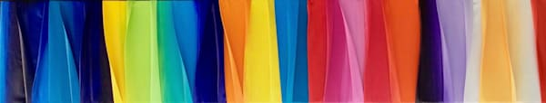"""12"""" x 80"""" Vibrant Waves of  Color"""