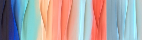 """15"""" x 48"""" Pastel Waves of Color"""