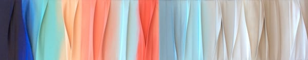 """15"""" x 80"""" Pastel Waves of Color"""