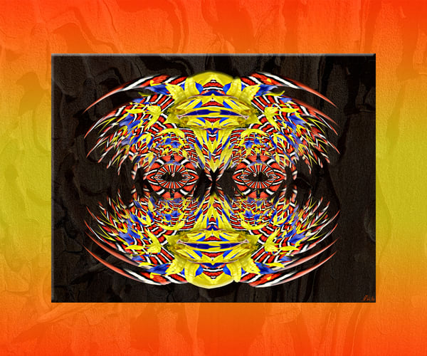 Sonoran Mountain Clown Face Art | Maureen Wilks Digital Fine Art