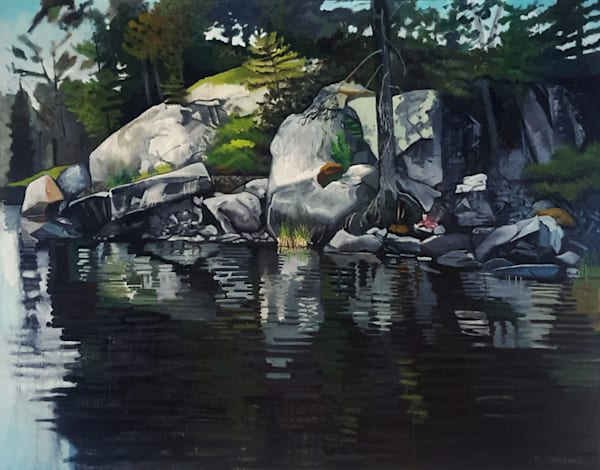 Grassy Island Rocks oil painting by Mark Granlund