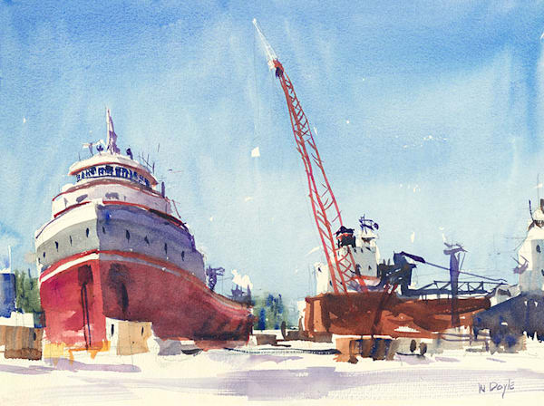 Sturgeon Bay Ship Yard fine art print by Bill Doyle.