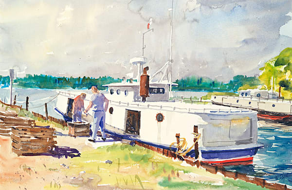 Whitefish Catch, Henderson Dock fine art print by Bill Doyle.