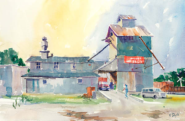 Collins Feed Mill fine art print by Bill Doyle.