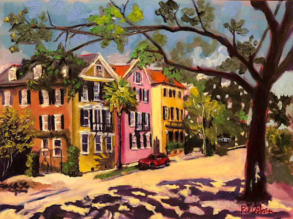 Fancy Street in Charleston | Fine Art Painting Print by Rick Osborn