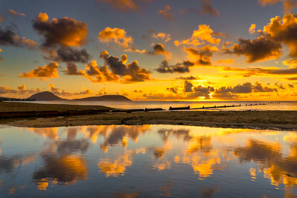 Hawaii Photography | Sunray Reflections by Peter Tang