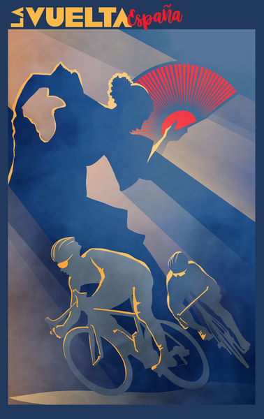 Original cycling art by Sassan Filsoof available as fine art prints. Click to purchase.
