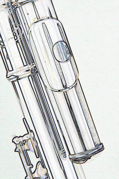 Alto Flute Mouthpipe Music Art Drawing 8001.602