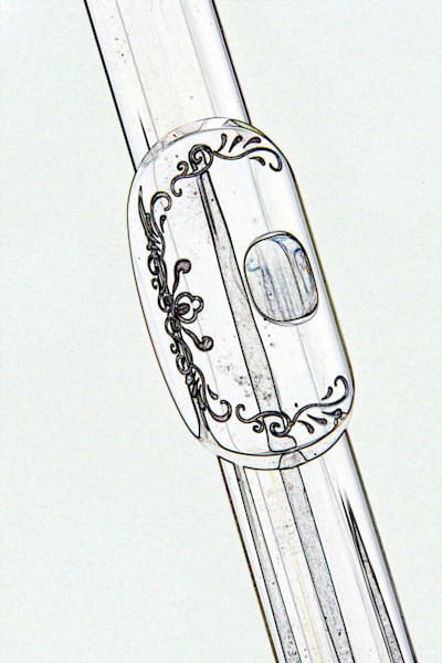 Engraved Flute Lip Plate Drawing 8001.610