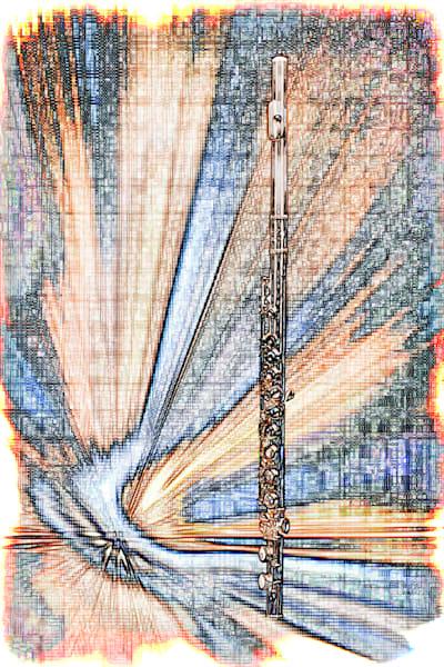 Flute LIght Drawing Wall Art 8001.628