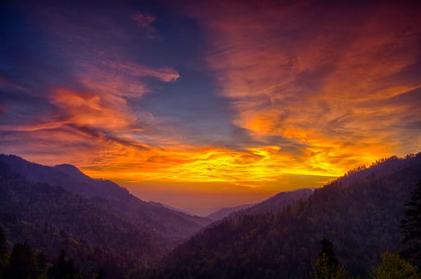 A Smoky Mountain Sunset