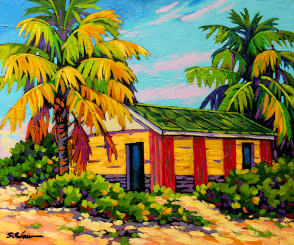 Bahama house, tropical paintings