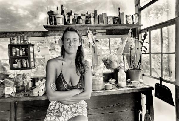 Diane Striegel in her Kitchen, 1976